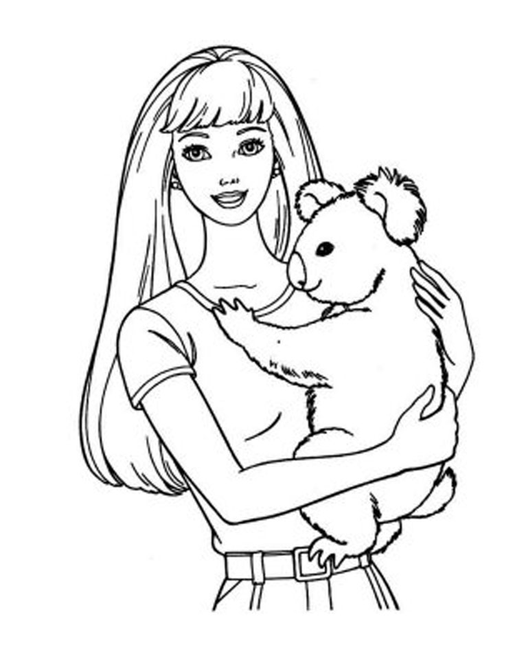 Barbie Coloring Pages 3
