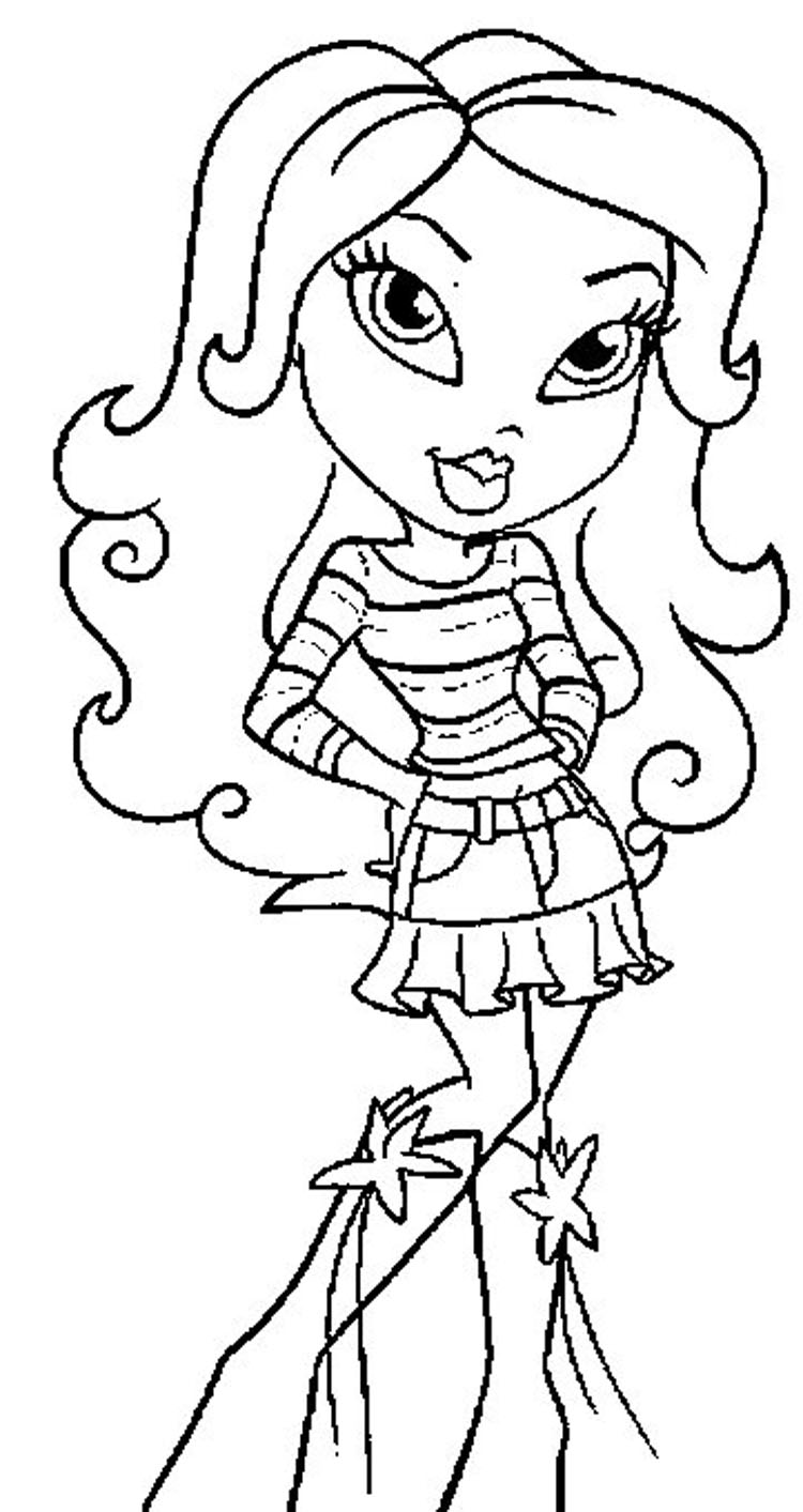 Bratz Coloring Pages 9