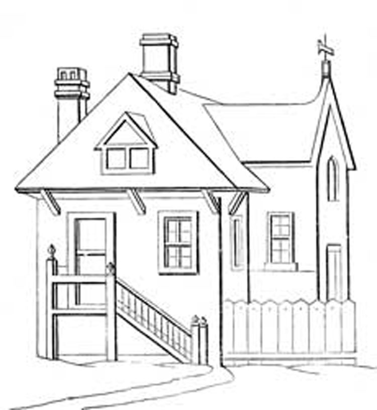 House Coloring Pages 4