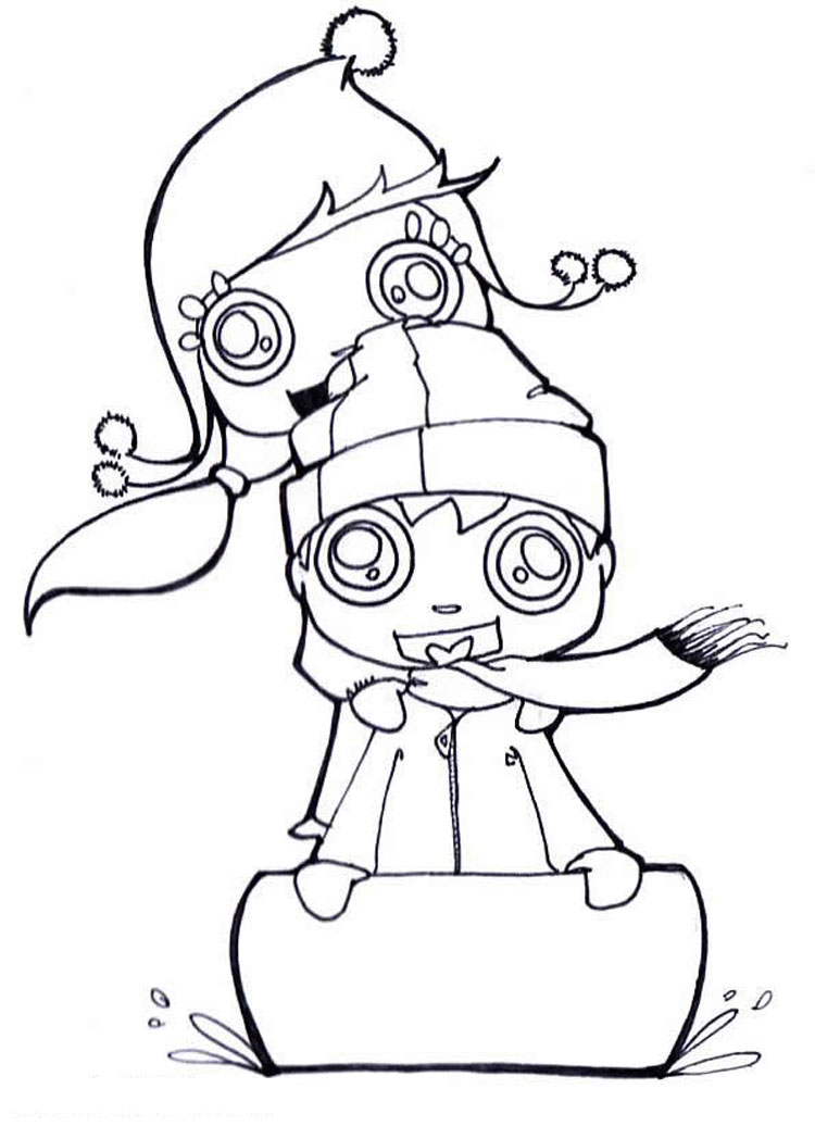 Kid Coloring Pages 12
