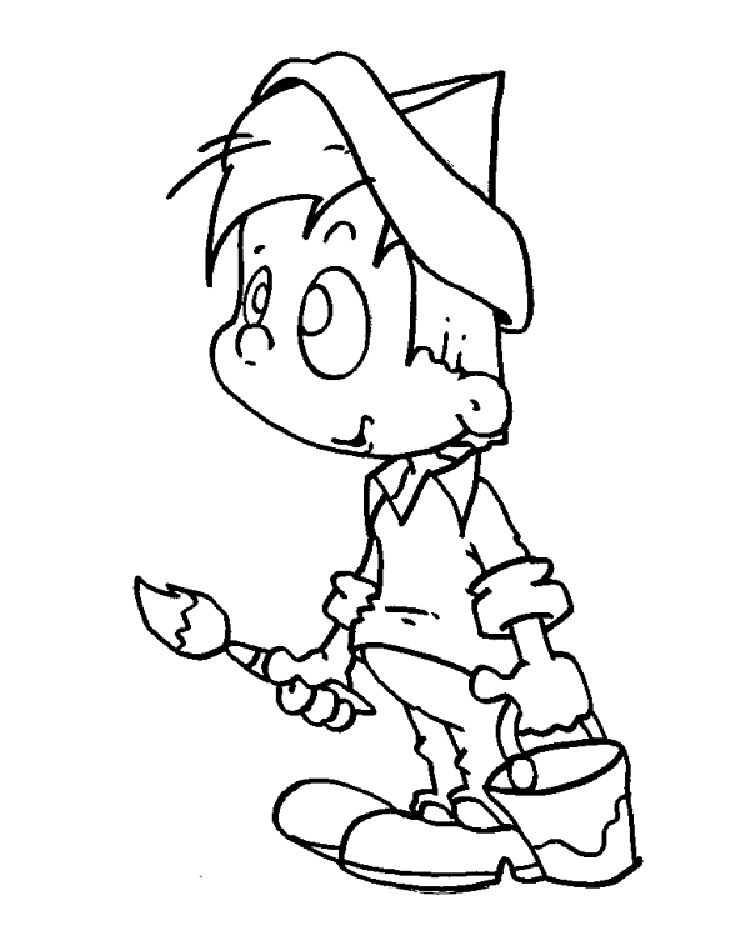 Kid Coloring Pages 4
