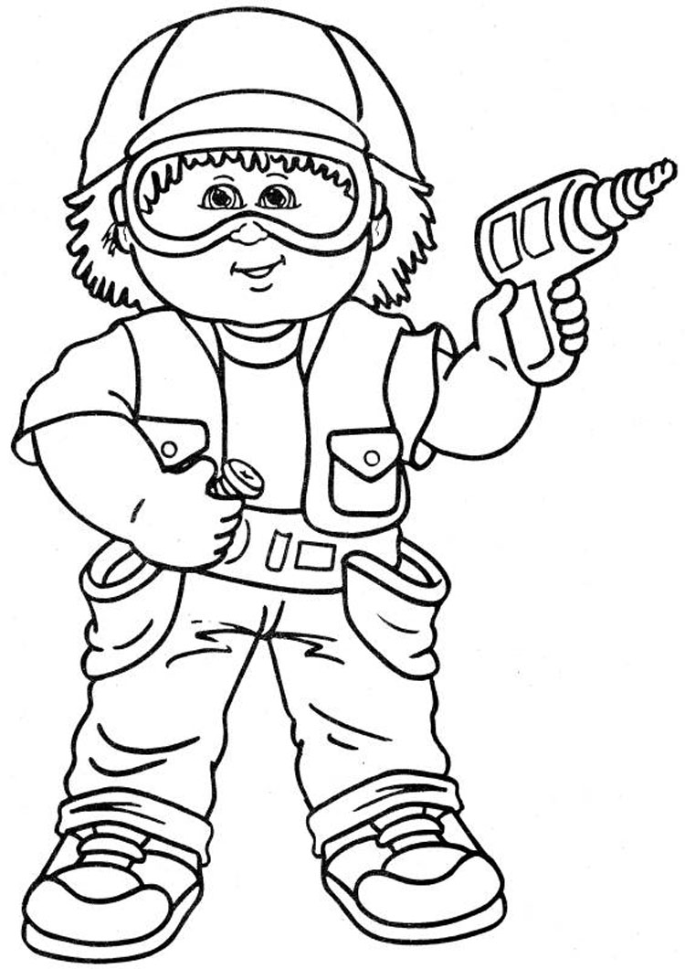 Kid Coloring Pages 6