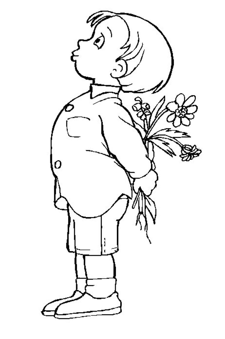 Kid Coloring Pages 9
