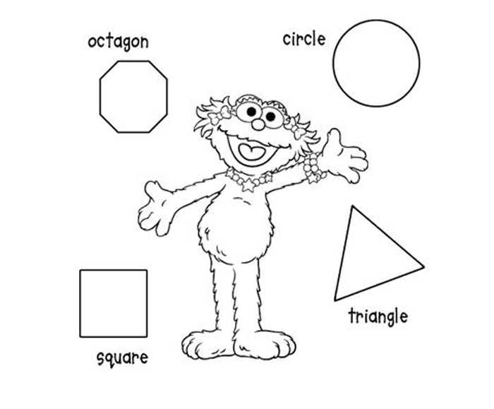 Shape Coloring Pages 1
