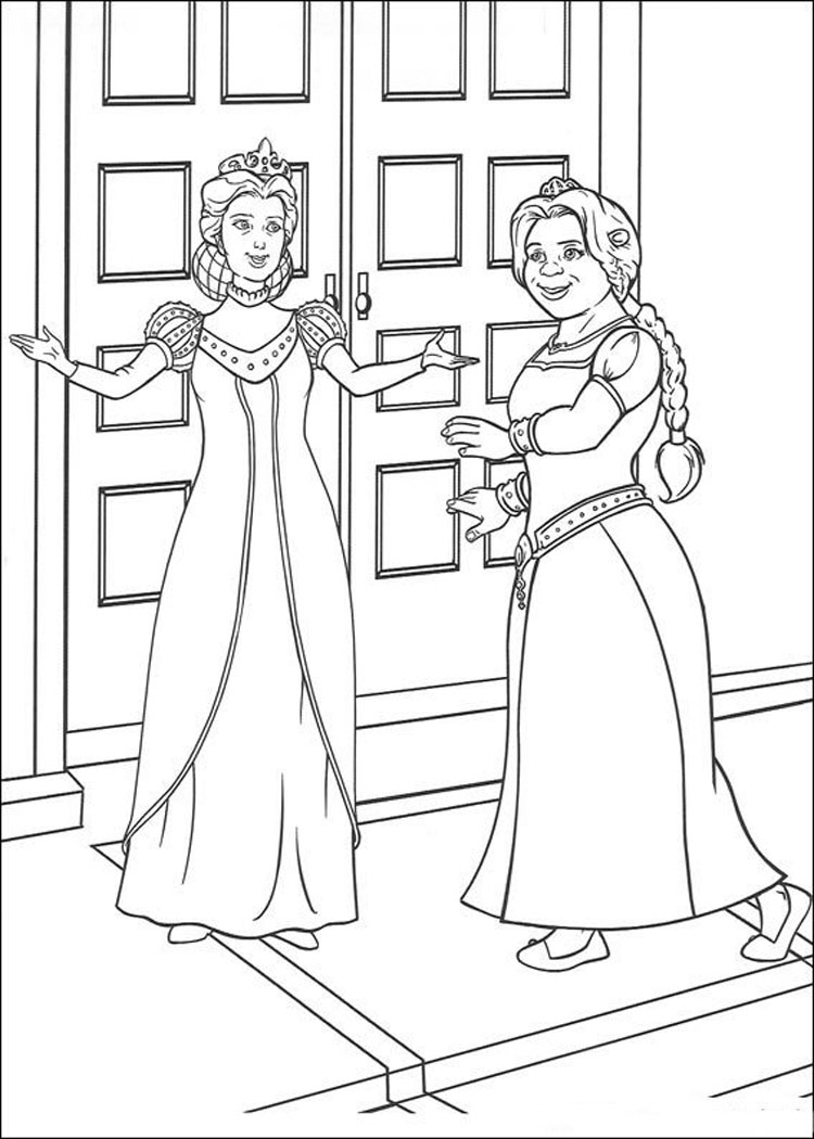 Shrek Coloring Pages 2