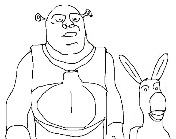 Shrek Coloring Pages 5