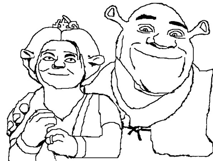 Shrek Coloring Pages 9