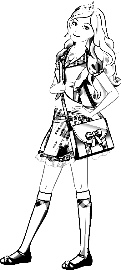 Barbie Princess Charm School Coloring Pages 1