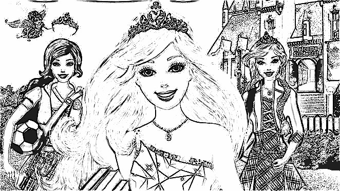 Barbie Princess Charm School Coloring Pages 6