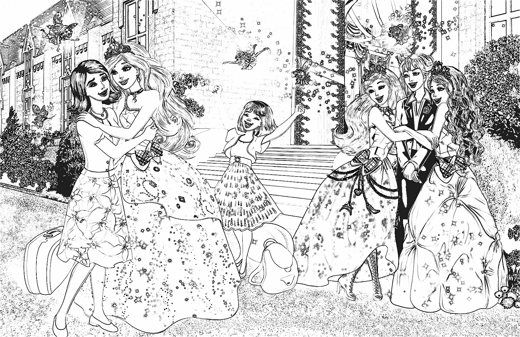 Free printable coloring pages barbie princess - Princess Barbie Coloring Pages Preal Barbie The Princess Barbie Barbie Princess Charm School Coloring Pages 8
