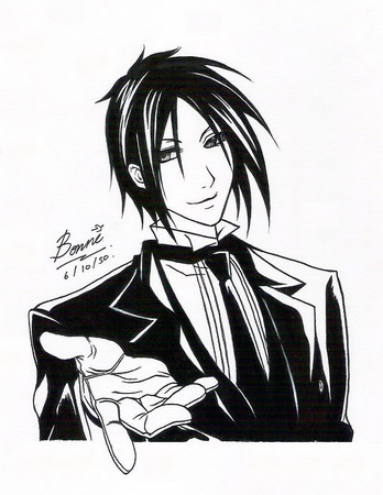 Black Butler Coloring Pages 4