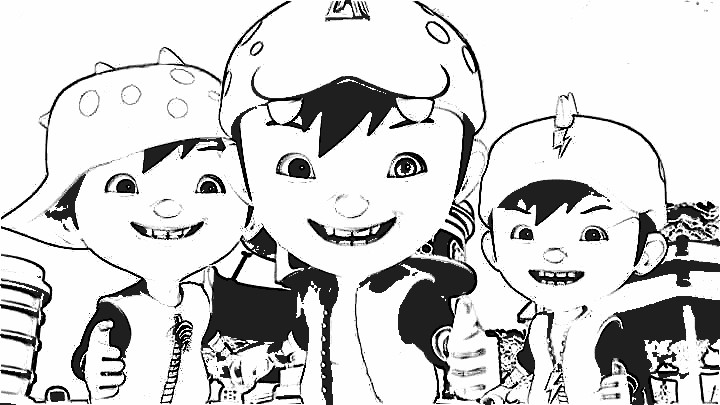 Boboiboy Coloring Pages 4