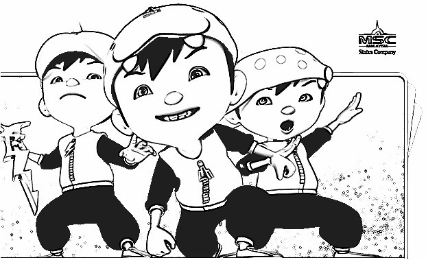 Boboiboy Coloring Pages 6