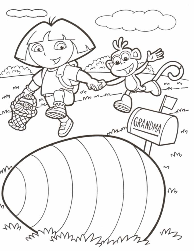 Dora Coloring Pages 4