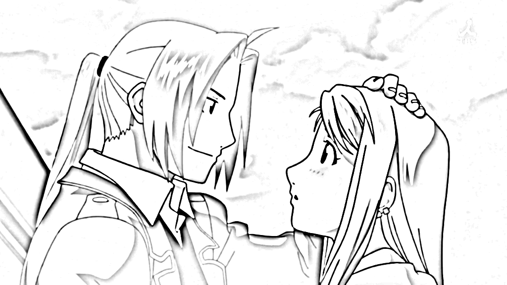 Fullmetal Alchemist Brotherhood Coloring Pages 1