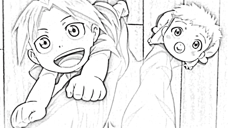 Fullmetal Alchemist Brotherhood Coloring Pages 2