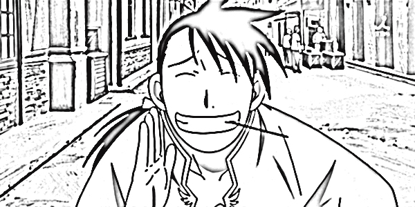 Fullmetal Alchemist Brotherhood Coloring Pages 4