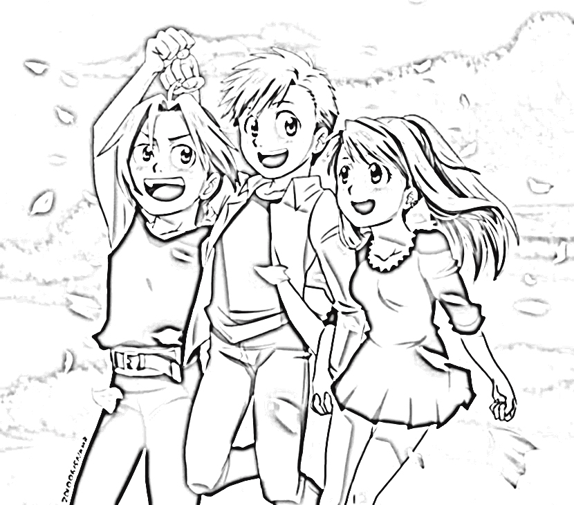 Fullmetal Alchemist Brotherhood Coloring Pages 6
