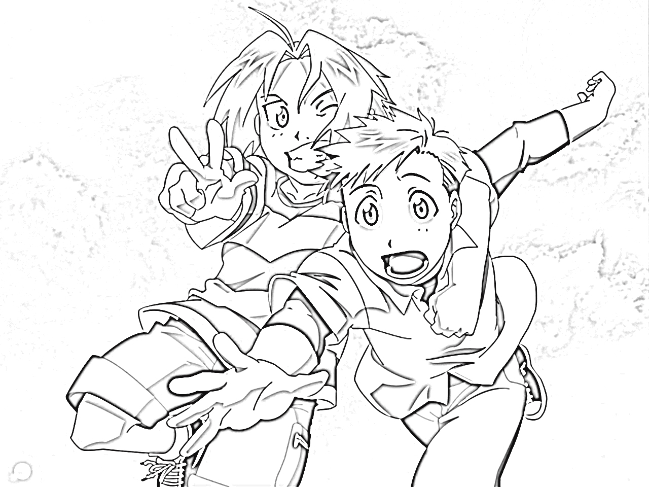 Fullmetal Alchemist Brotherhood Coloring Pages 9