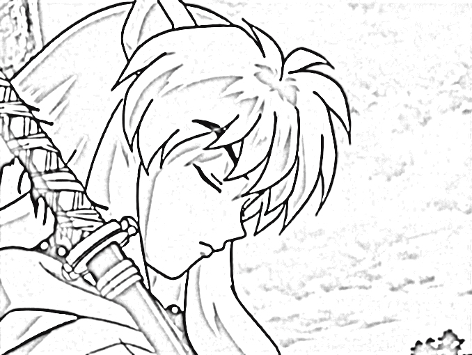 inuyasha coloring pages - Inuyasha Coloring Pages