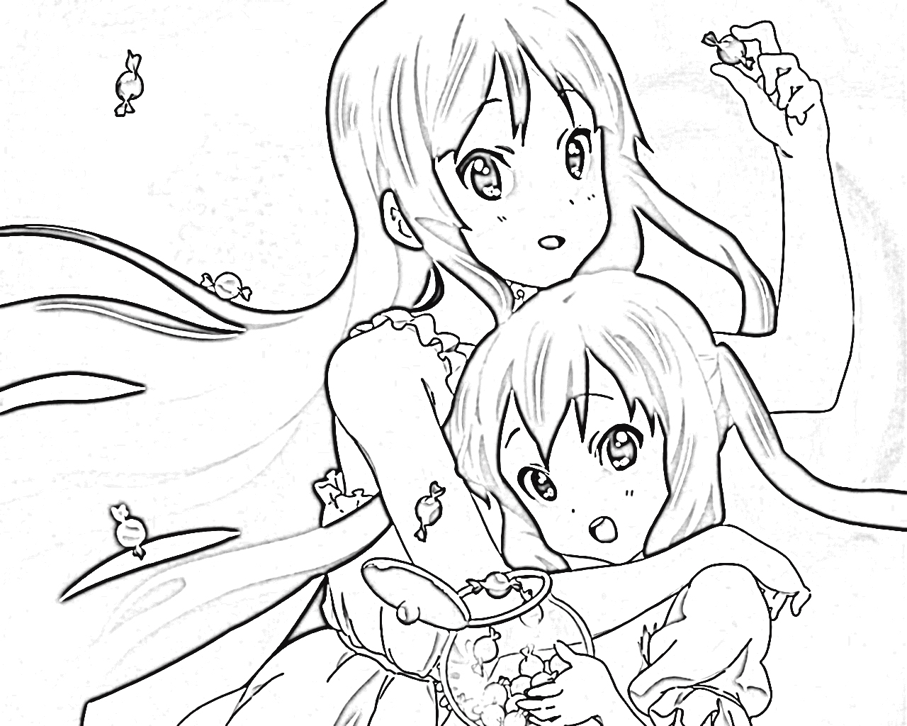 K-On! Coloring Pages 1