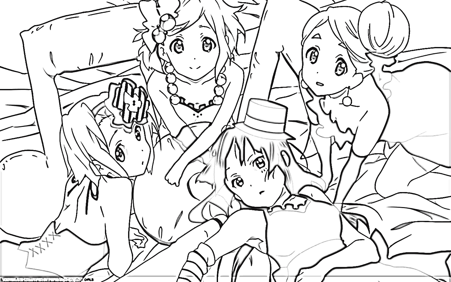K-On! Coloring Pages 3