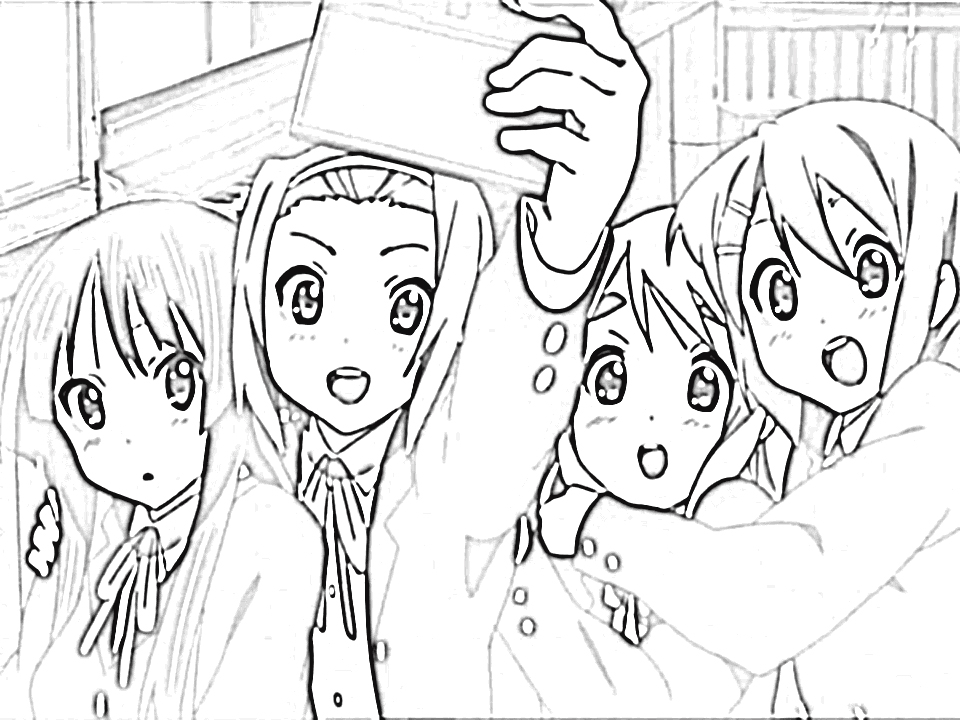 K-On! Coloring Pages 4