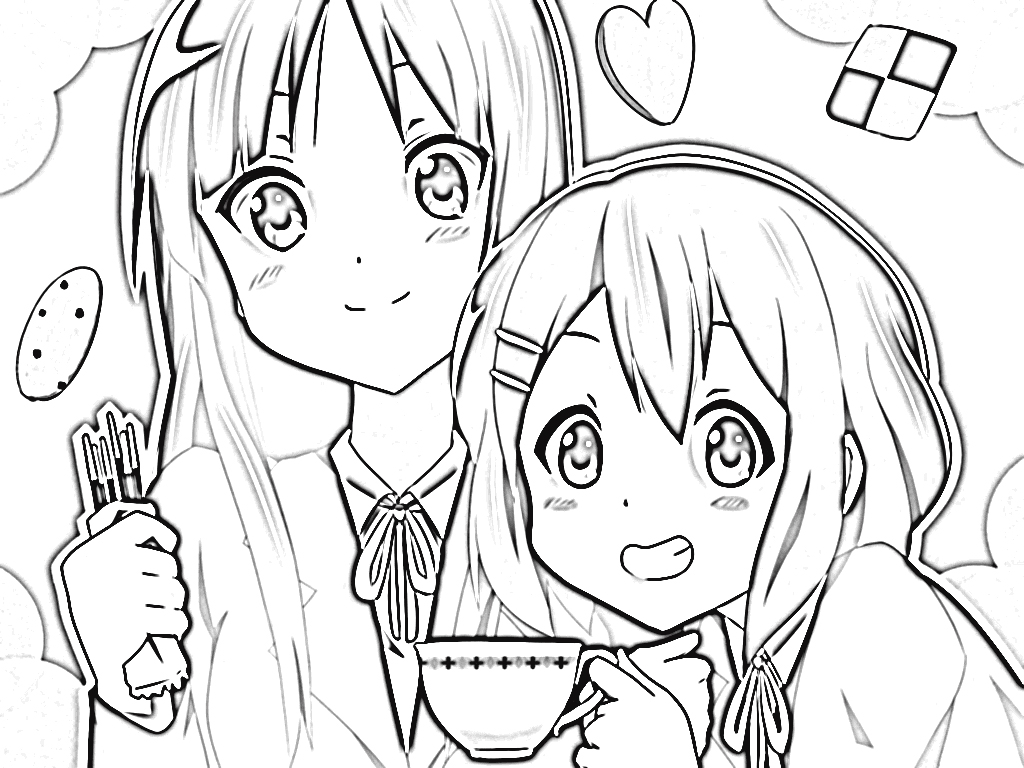 K-On! Coloring Pages 5