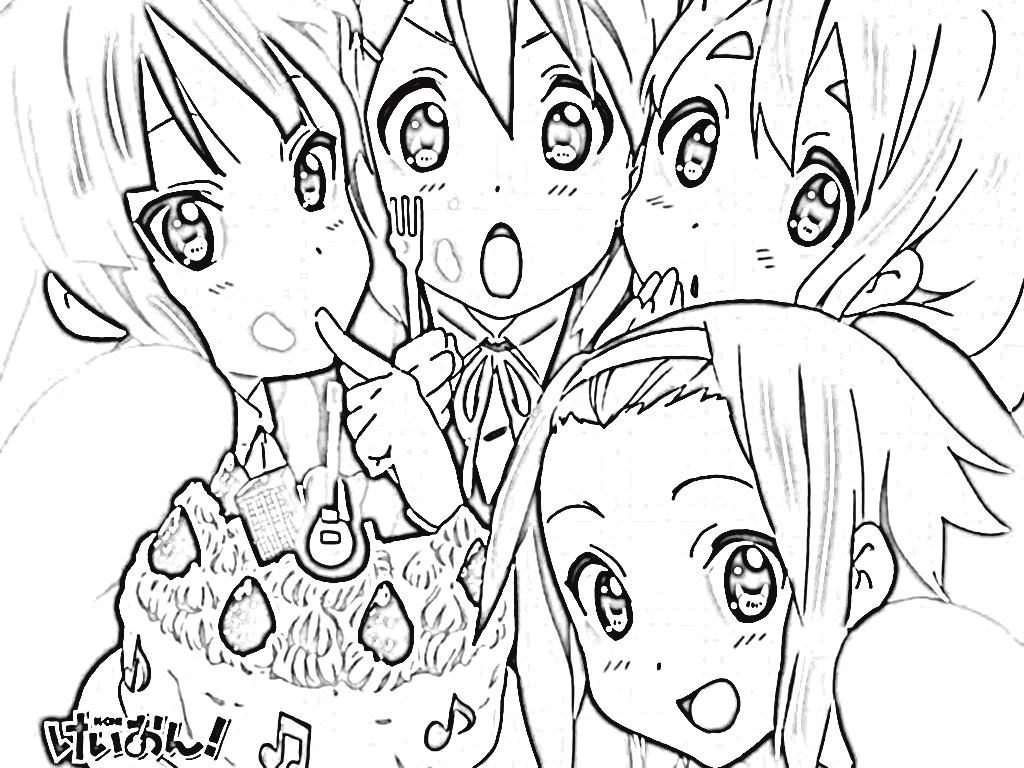 K-On! Coloring Pages 7
