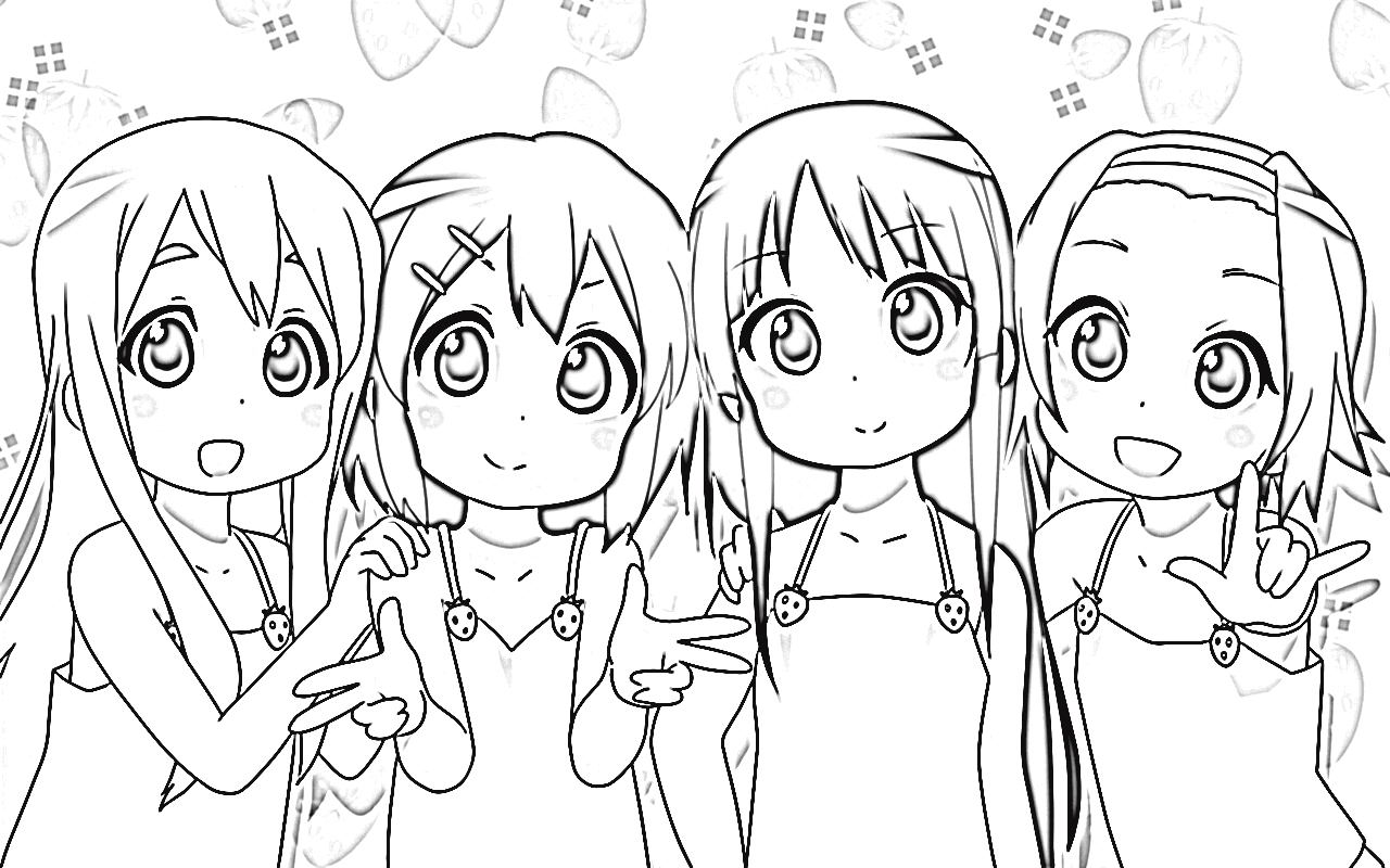 K-On! Coloring Pages 9