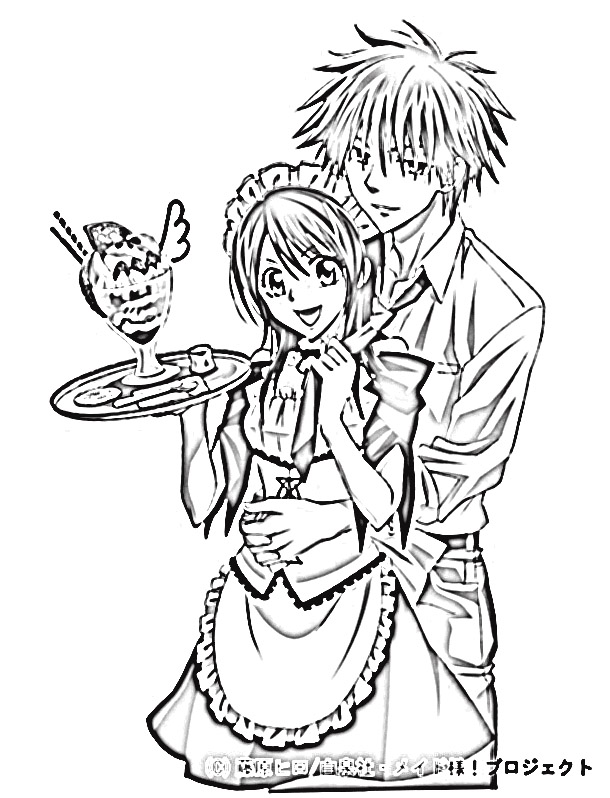 Maid Sama Coloring Pages 2
