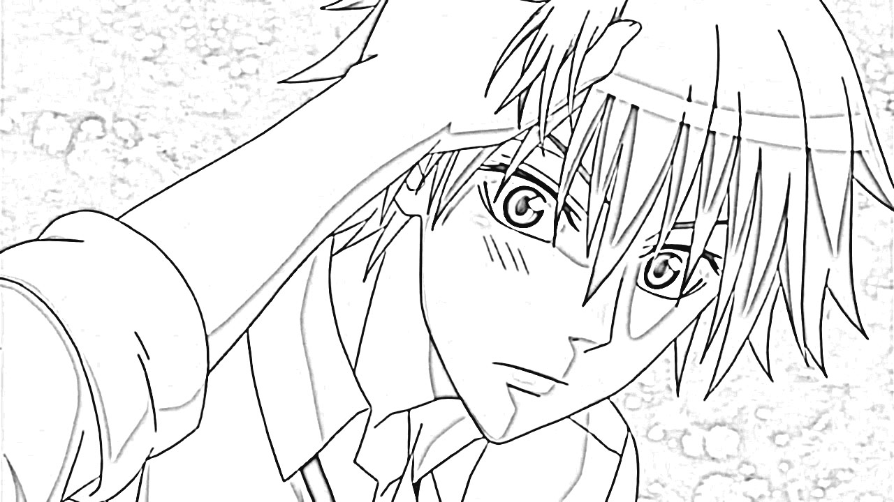 Maid Sama Coloring Pages 4