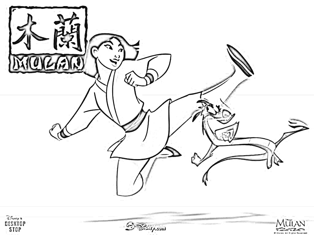 Mulan 2 Coloring Pages 1