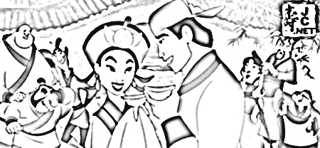 Mulan 2 Coloring Pages 4