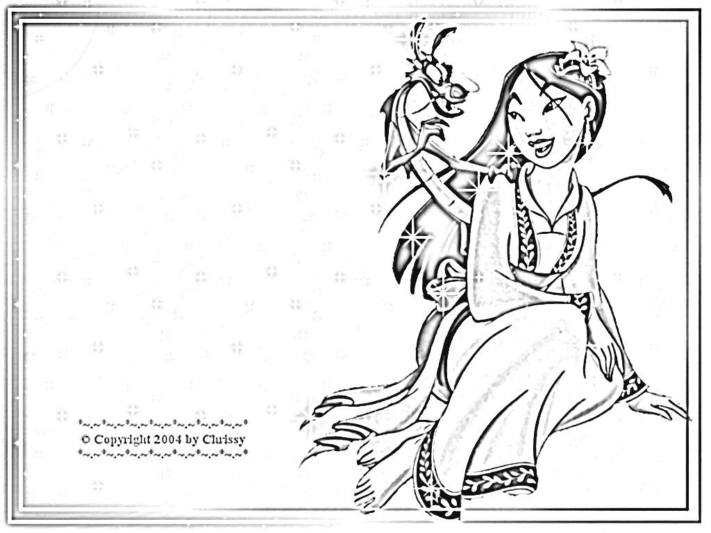 mulan 2 coloring pages
