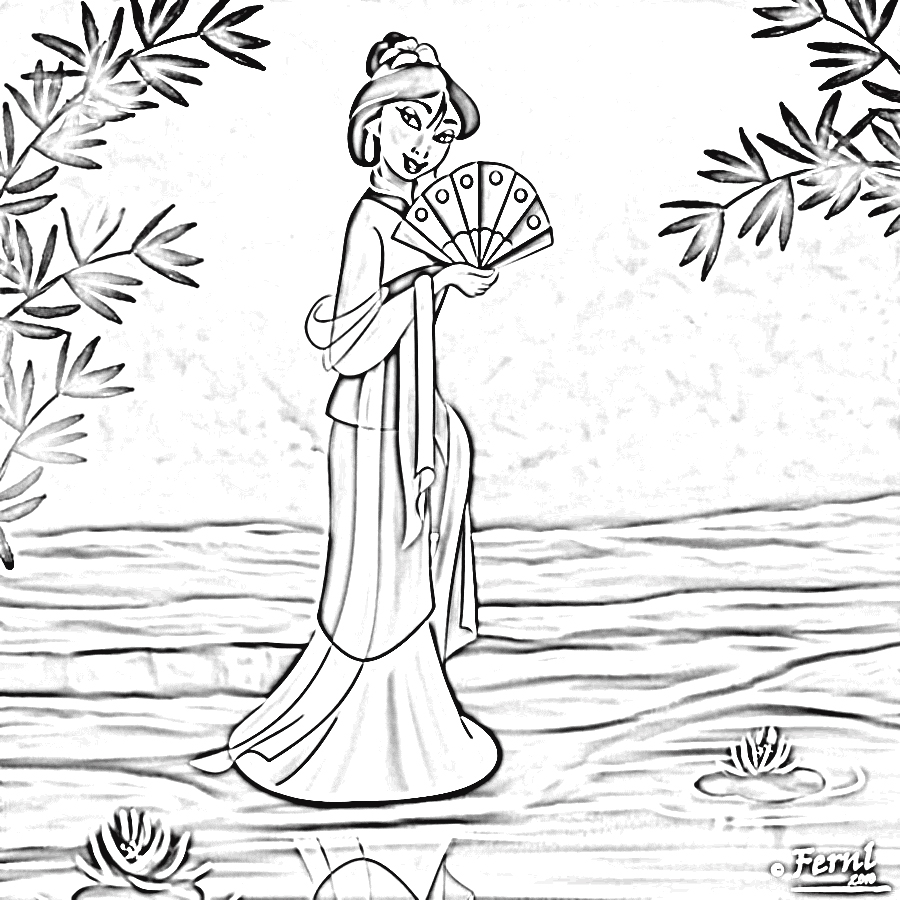 Mulan 2 Coloring Pages 6