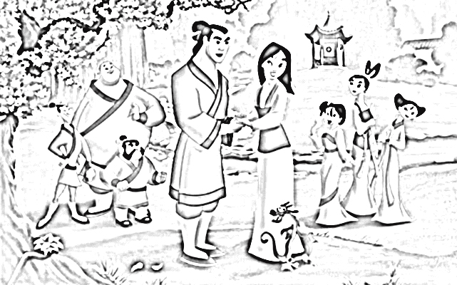 Mulan 2 Coloring Pages 7