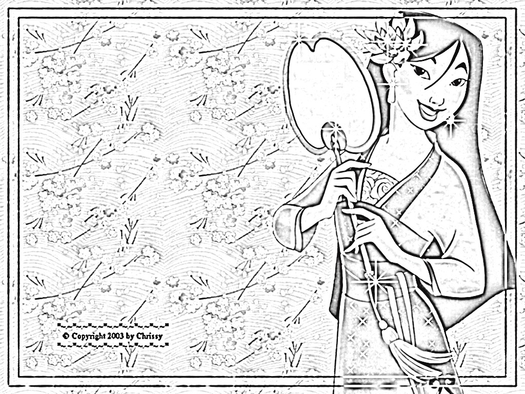Mulan 2 Coloring Pages 8