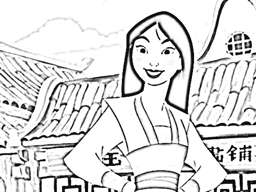 Mulan 2 Coloring Pages 9