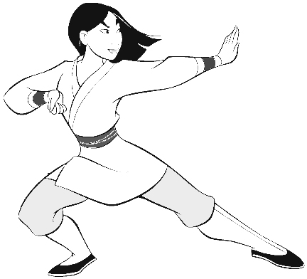 Mulan Coloring Pages 5