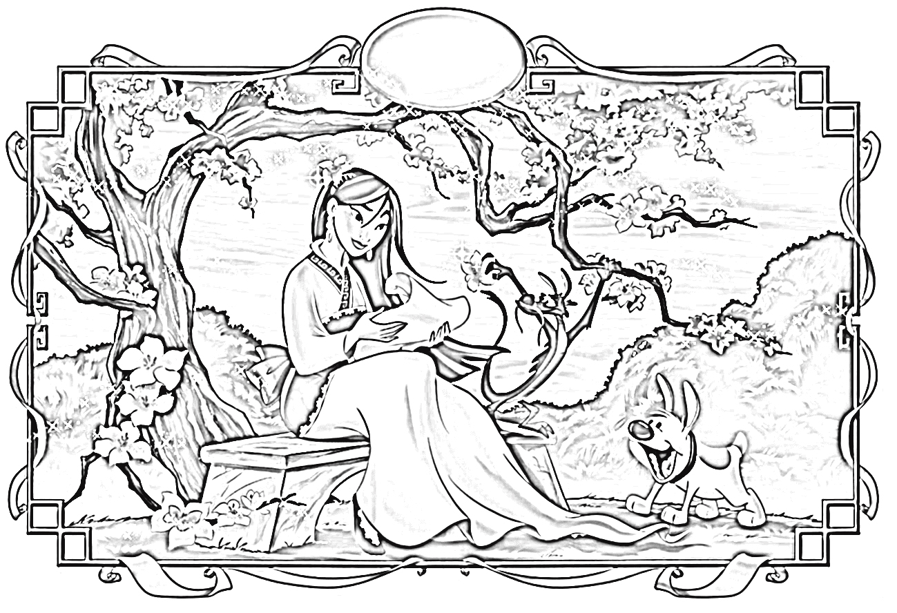 Mulan Coloring Pages 7