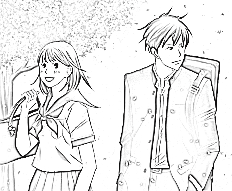 Nodame Cantabile Coloring Pages 3