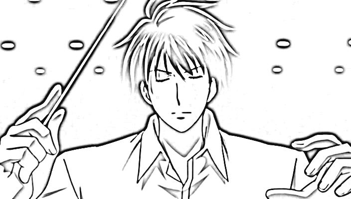 Nodame Cantabile Coloring Pages 4