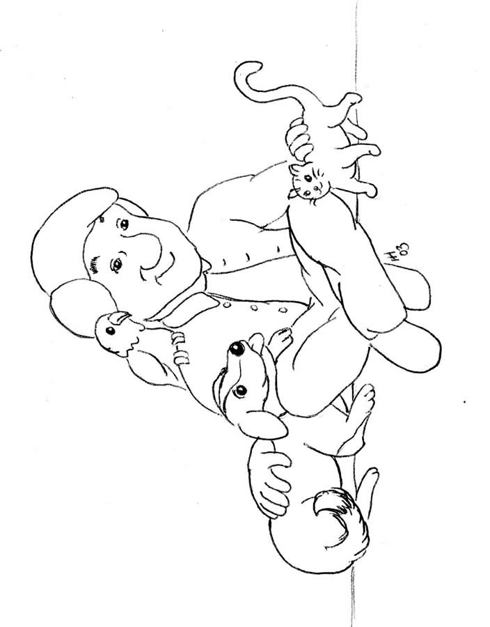 Pets Coloring Pages 8