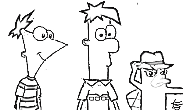 Phineas and Ferb Coloring Pages 4
