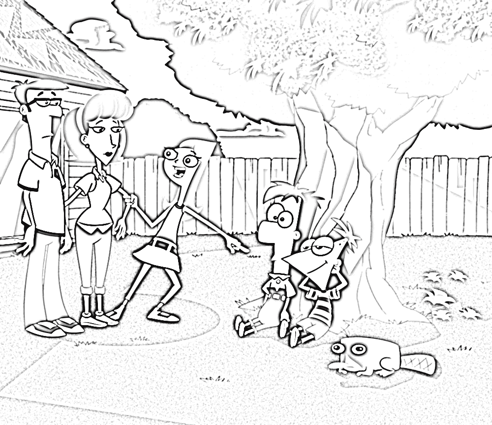 Phineas and Ferb Coloring Pages 6