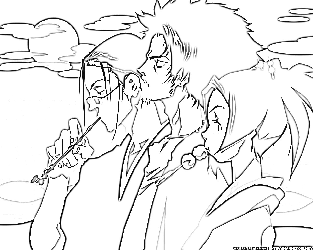 samurai champloo coloring pages