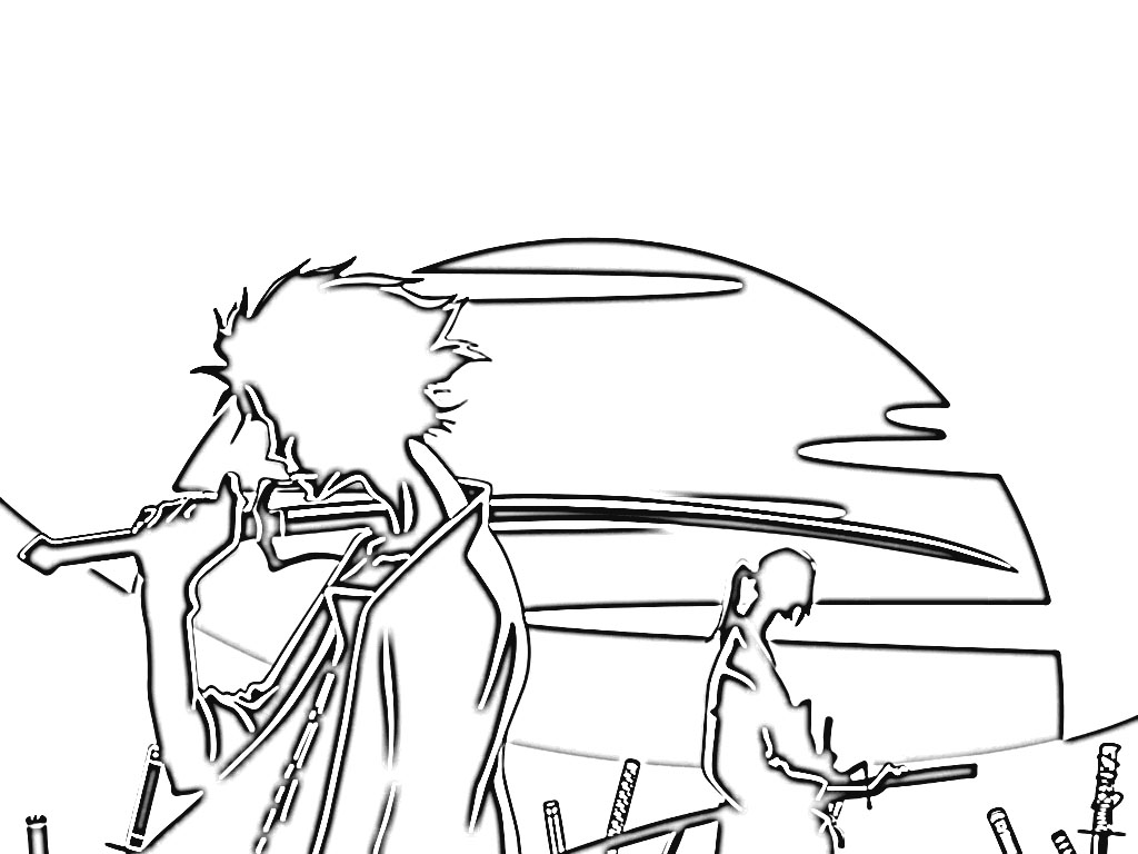 Samurai Champloo Coloring Pages 8