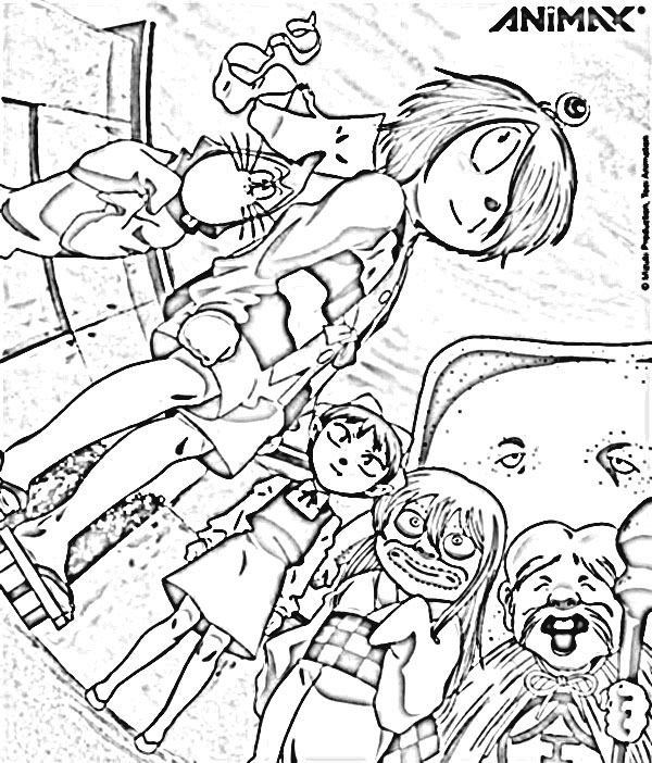 Spooky Kitaro Coloring Pages 4