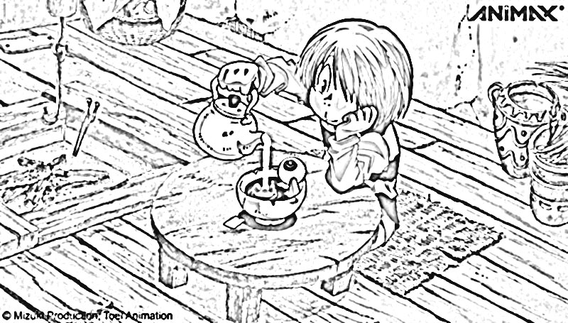 Spooky Kitaro Coloring Pages 5